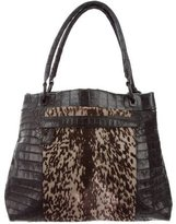 Nancy Gonzalez Crocodile & Ponyhair Tote