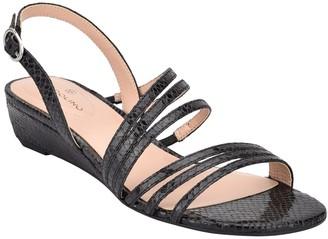 Bandolino Tambi Embossed Snake Print Sandal