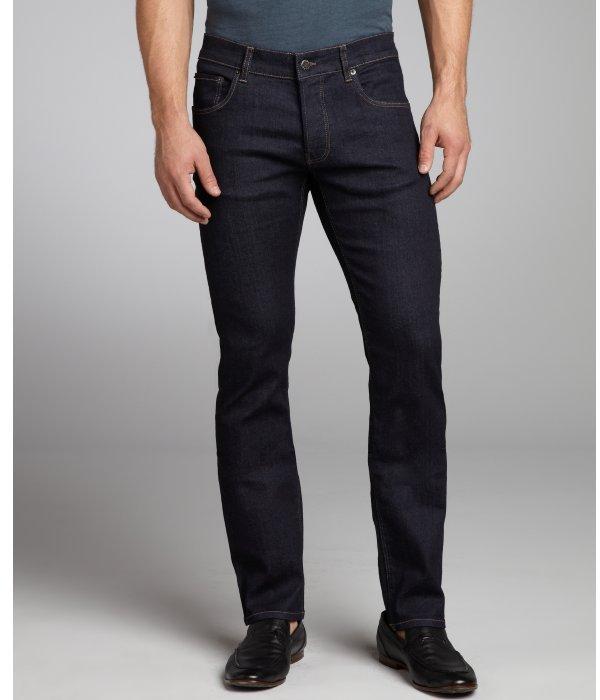 Prada dark blue stretch denim straight leg jeans