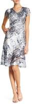 Komarov Lace Paneled V-Neck Dress (Petite)