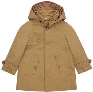 Burberry Hooded Cotton Trench Coat