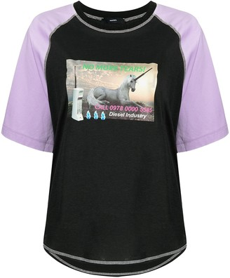 Diesel T-Spo colour-block T-shirt