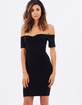 Miss Selfridge Tie Front Bardot Dress
