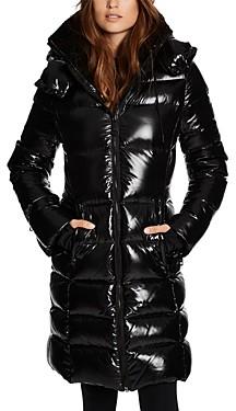 SAM. Savannah Shearling Collar Hooded Puffer Coat