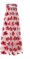 Tory Burch Barrington Floral Embroidered Gown