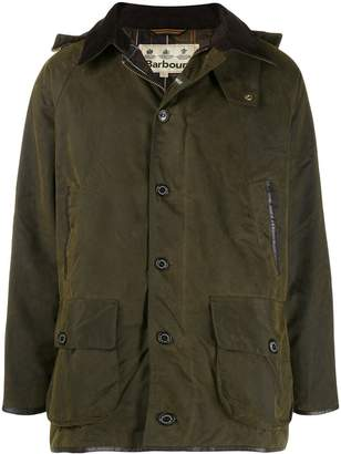Barbour military style hooded jacket