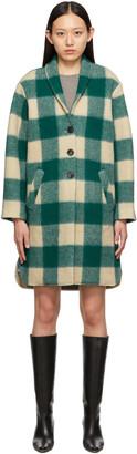 Isabel Marant Etoile Green & Beige Check Gabriel Coat
