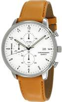 Issey Miyake Men's 'C' Quartz Stainless Steel and Leather Casual Watch, Color:Brown (Model: NYAD004Y)