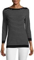 Karl Lagerfeld Women's Stripe Woven Sweater