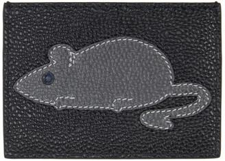Thom Browne Black Animal Icon Card Holder