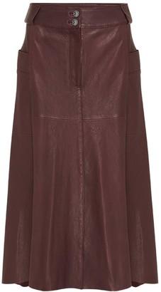 West 14th Hudson High-Rise Skirt - Shiraz Leather