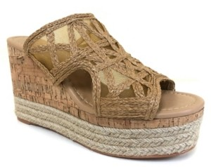 JANE AND THE SHOE Evie Platform Woven Wedge Sandals Women's Shoes
