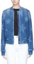 Stella McCartney Star fade motif denim bomber jacket