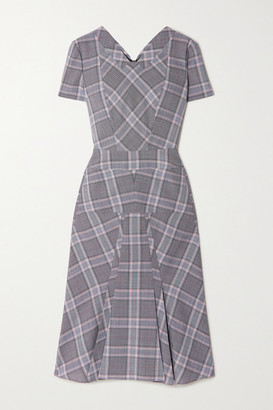 Roland Mouret Bowland Checked Wool Dress - Light gray