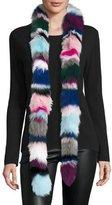 Charlotte Simone Rainbow Twist Fox Fur Scarf, Multicolor