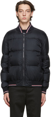 Thom Browne Navy Down Relaxed Blouson Jacket
