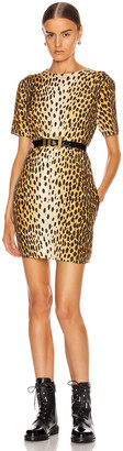 R 13 Shift Dress in Cheetah | FWRD