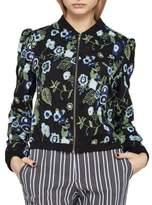 BCBGeneration Floral Embroidered Bomber Jacket