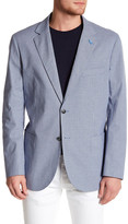 Tailorbyrd Blue Houndstooth Two Button Notch Lapel Sport Coat