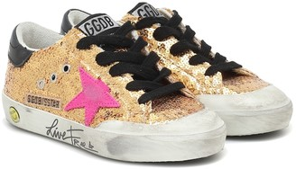 Golden Goose Kids Superstar embellished sneakers