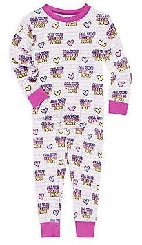 Rowdy Sprout Baby Girl's, Little Girl's & Girl's All You Need Is Love 2-Piece Pajamas