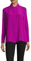 Magaschoni Silk Side Button Blouse
