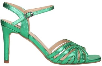 Bibi Lou Sandals In Green Leather
