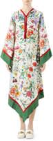 Gucci Long Flora Linen Caftan Dress