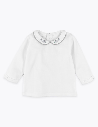 Marks and Spencer Organic Cotton Rich Velour Top