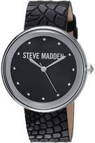 Steve Madden Animal Print Leather Watch