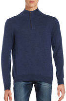 Black Brown 1826 Merino Wool Quarter-Zip Sweater