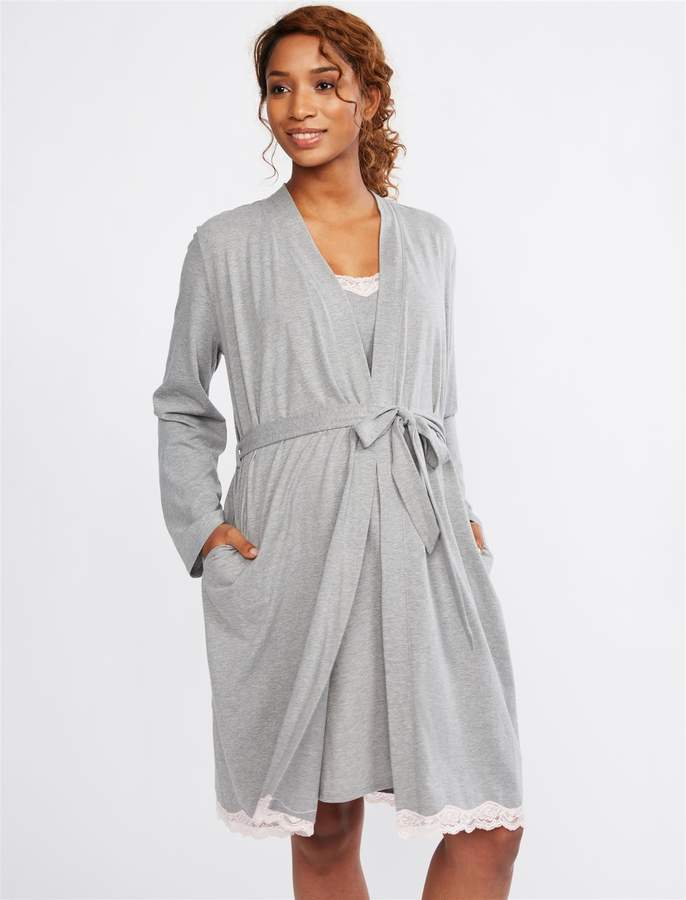 215619573093d Maternity Robe - ShopStyle