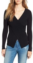 Leith Crossover Rib Knit Sweater