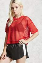 Forever 21 Faux Leather Contrast Shorts