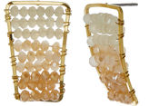 Natasha Accessories Natasha Ombre Beaded Gold-Tone Earrings