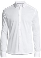 Eton Long Sleeve Button-Down Knit Dress Shirt