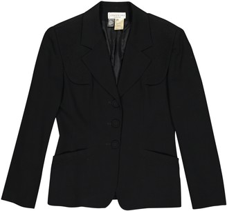 Georges Rech Black Wool Jacket for Women Vintage