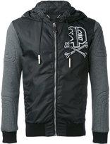Philipp Plein hooded long sleeve jacket - men - Cotton/Polyamide - M