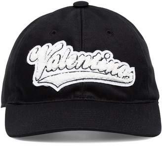 Valentino black rookie varsity logo pool cap black