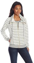 Calvin Klein Women's Mixed Striped Funnel Neck Sweater