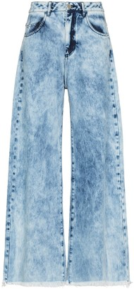 Marques Almeida reMAde cropped flared jeans