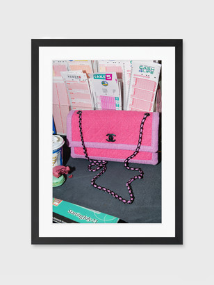 """For Your Guest Bathroom """"New York Pink"""" Framed Print"""