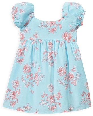 Janie and Jack Baby's, Little Girl's & Girl's Puff-Sleeve Floral Dress