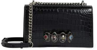 Alexander McQueen Leather Four-Ring Shoulder Bag