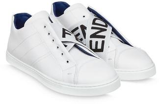 Fendi Logo-Strap Low-Top Sneakers