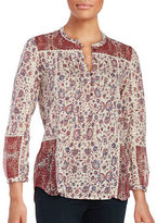 Lucky Brand Printed Floral Blouse