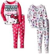 Komar Kids Girls' Hello Kitty 4 Piece Cotton Sets