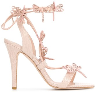 RED Valentino dragonfly sandals
