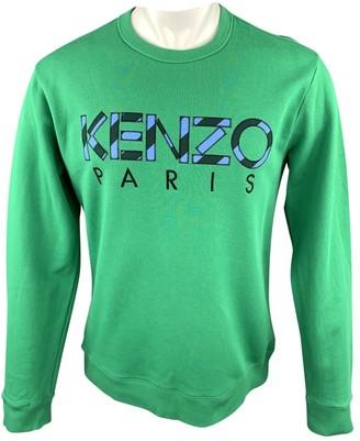 Kenzo Green Cotton Knitwear & Sweatshirts