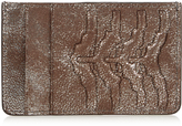Alexander McQueen Ribcage-embossed leather cardholder